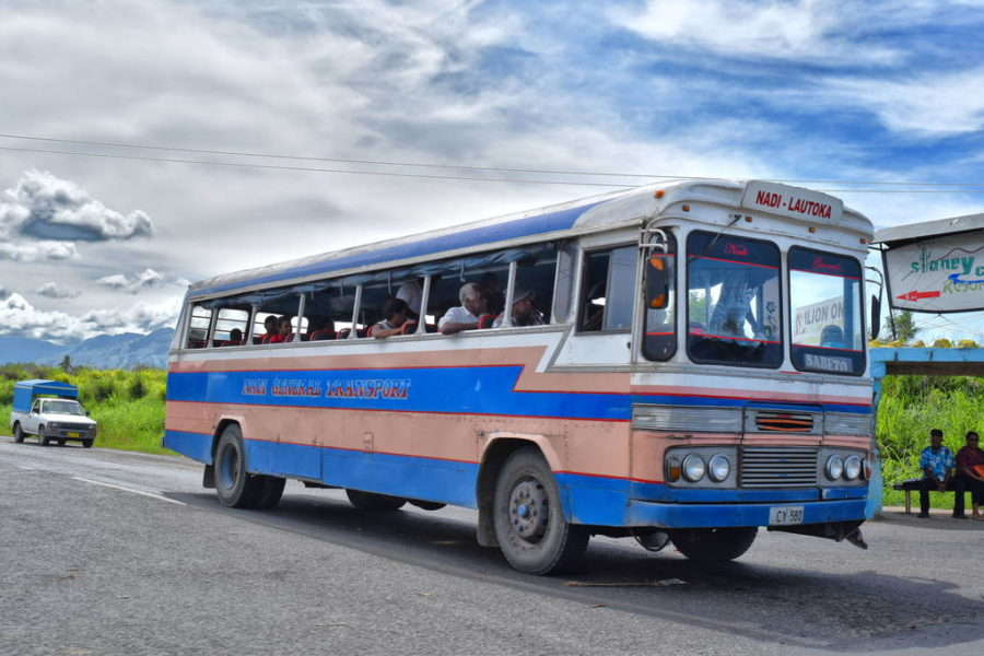 Public transport in fiji bus