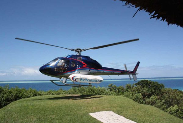 Helicopter flights in Fiji