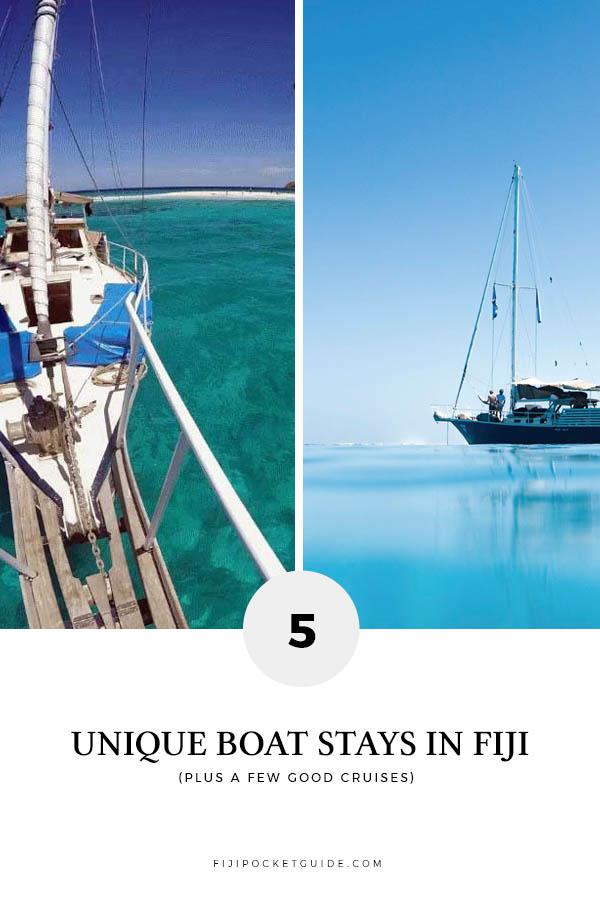 5 Unique Boat Stays in Fiji