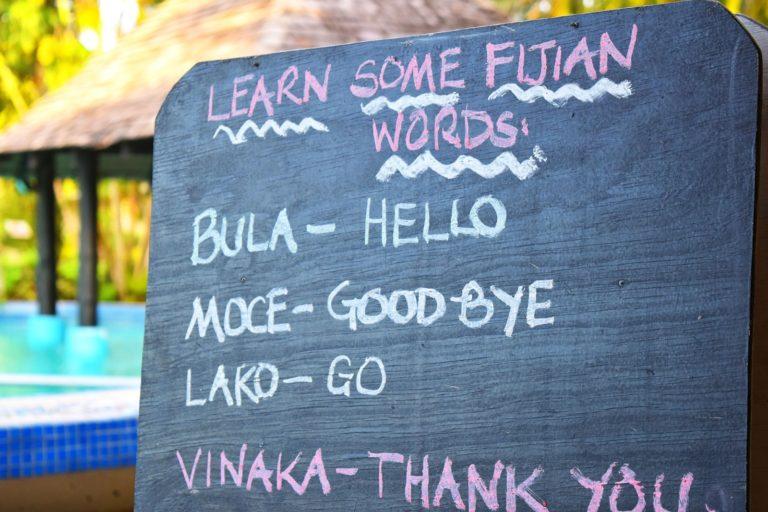 Fijian Words Language