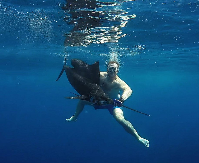 Spearfishing in Fiji