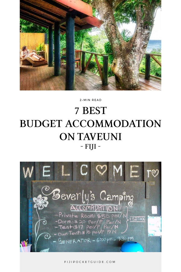 7 Best Budget Accommodation on Taveuni
