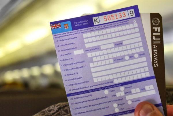 Passenger Arrival Card for Fiji Arrival Credit fijipocketguide.com