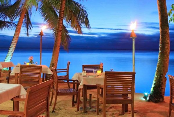 accommodation in the Lomaivit Islands for foodies Credit Toberua Island Resort